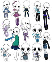 3/13 Open - Adopt Batch 11 - Galaxy Themed by Adopts-and-Designs