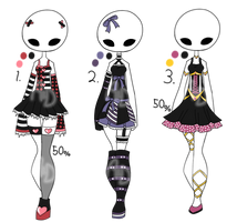 Closed - Adopt Batch 22 - Carnival Themed Outfits by Adopts-and-Designs