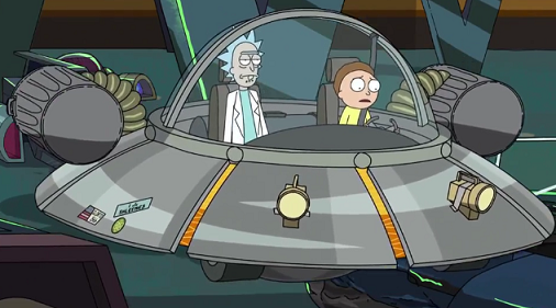 how to make a rick and morty spaceship