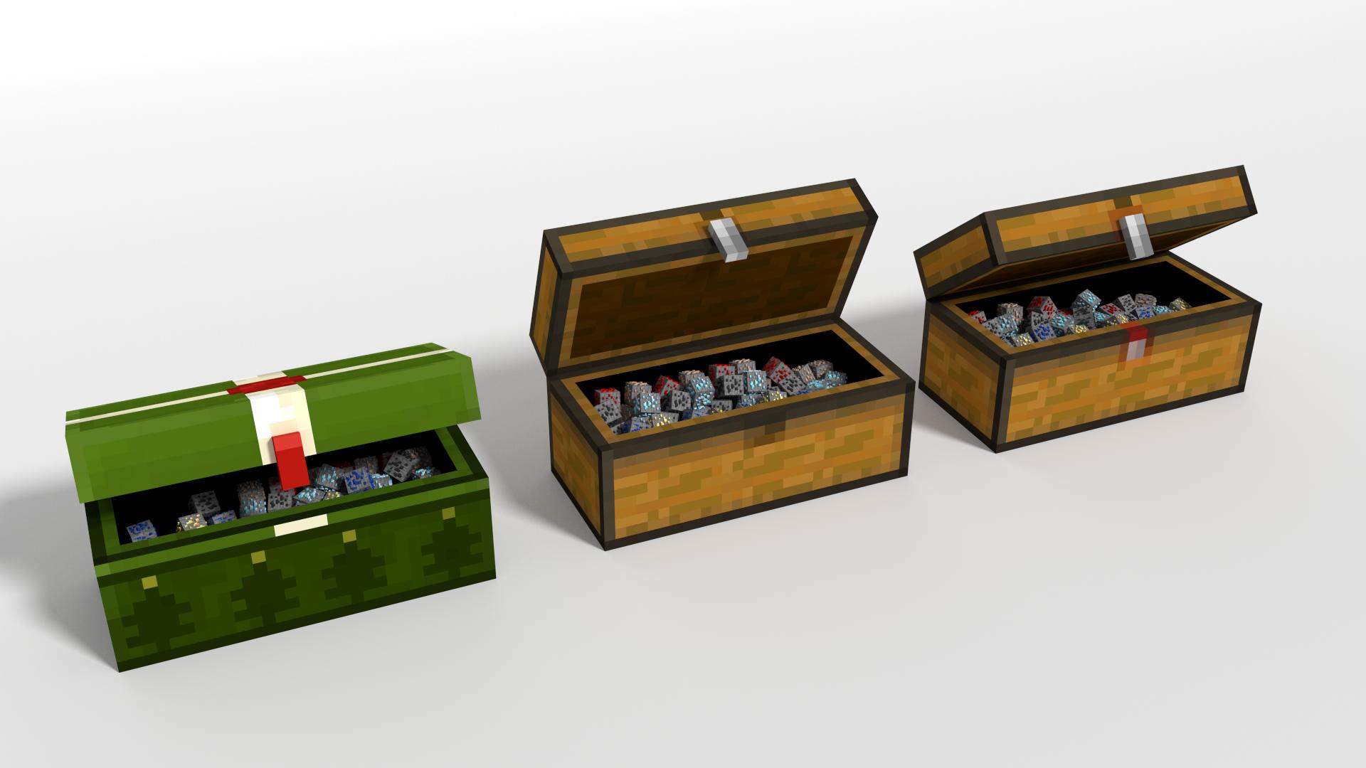 Minecraft double chest