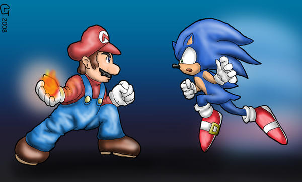 SSBB: Mario Vs Sonic by CaseyLJones on DeviantArt