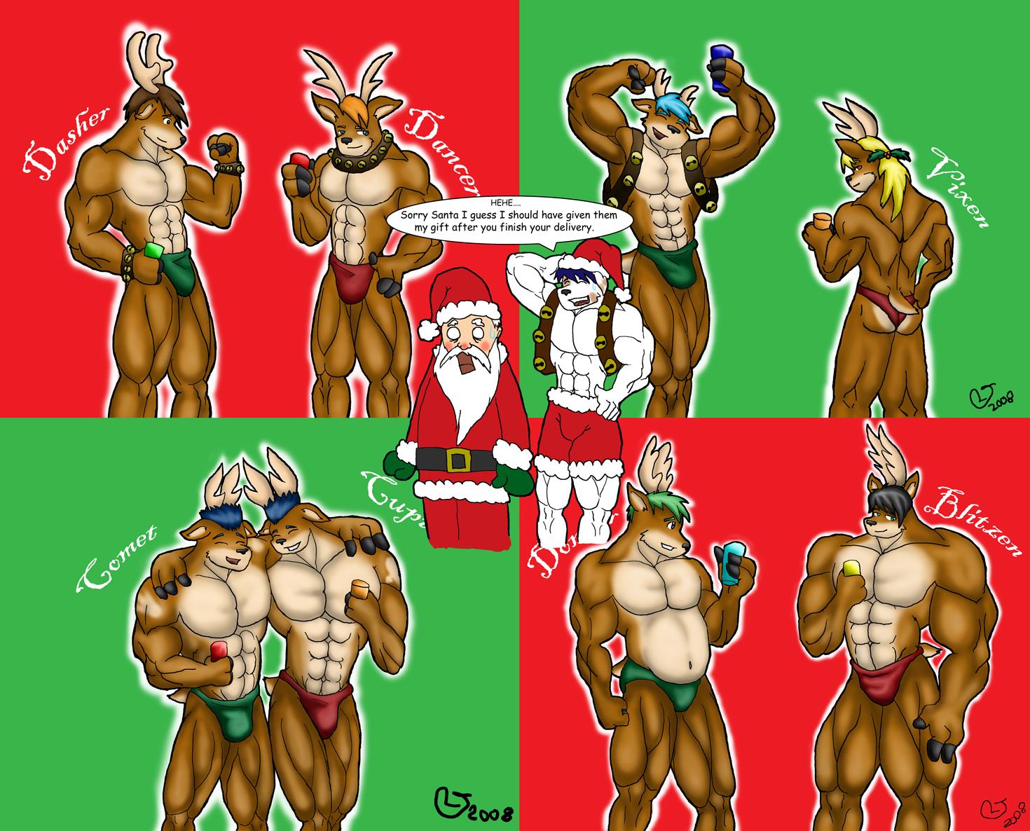 furry pop santa reindeer by caseyljones on deviantart