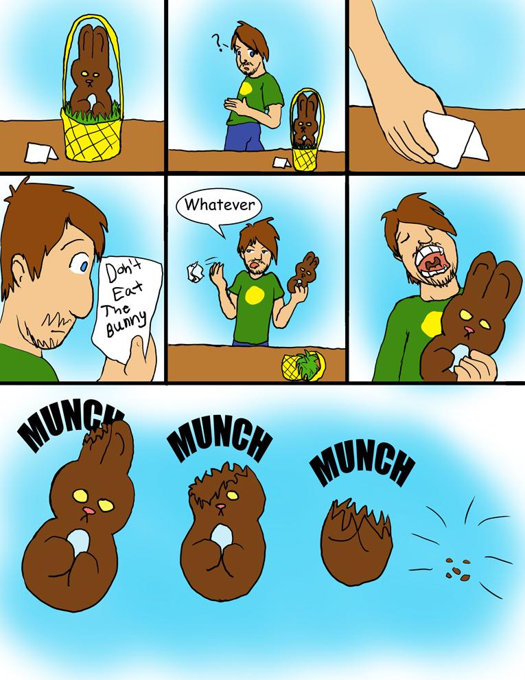 Don't eat the bunny 1 of 4 by CaseyLJones