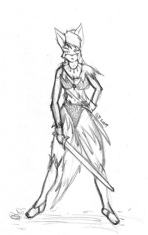 Fox Girl Warrior by CaseyLJonesFox Girl Warrior