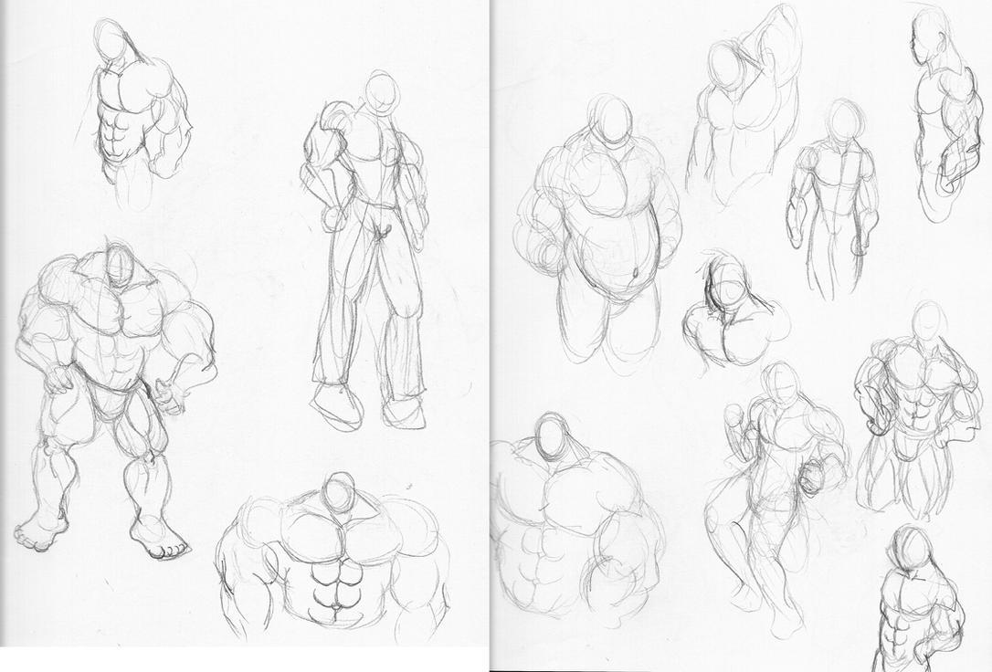 Muscle Guys Sketches By CaseyLJones On DeviantArt