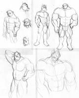 Muscle Furry Guys 2010 by CaseyLJones