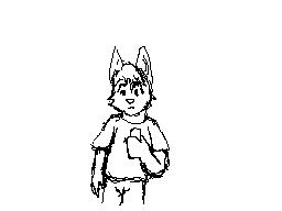 Flipnote: MG wolf guy by CaseyLJones