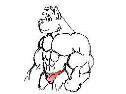 Flipnote: Buff Dog Guy by CaseyLJones