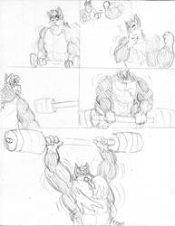 MG commission: Weightlifting P3 by CaseyLJones
