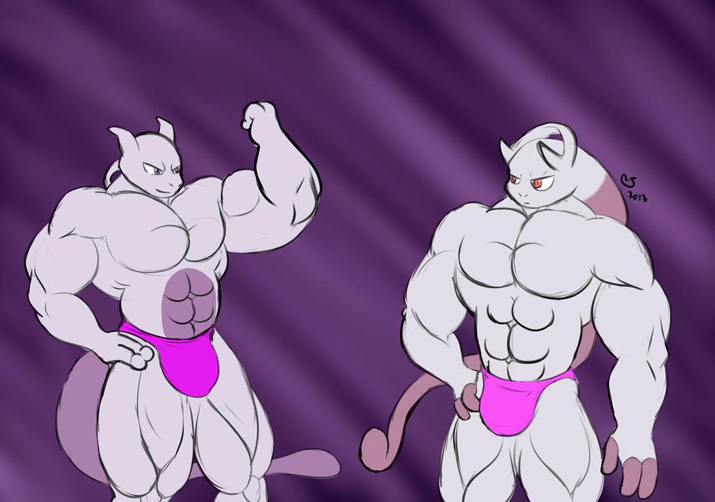 Pokemon: Buff Mewtwo Bros. By CaseyLJones On DeviantArt