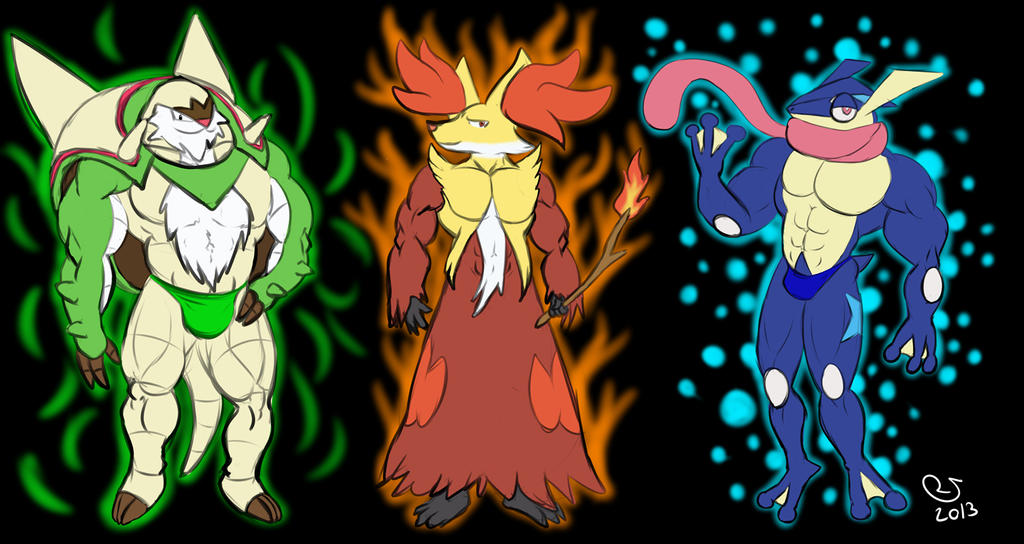 Pokemon: XY Starters F...X And Y Starter Evolutions