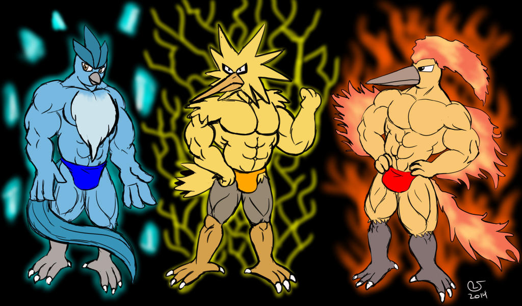 Mega Legendary Birds Pokemon: Three Legenda...