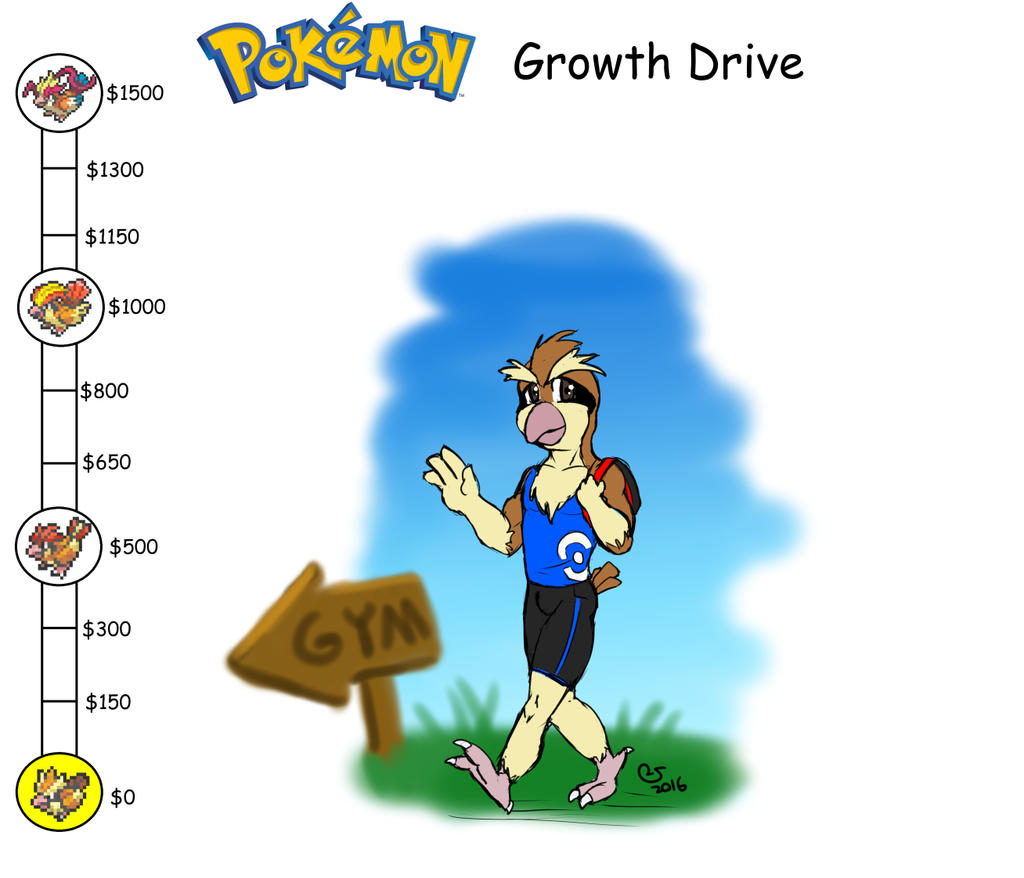 Pokemon Growth Drive: Peter (close) By CaseyLJones On