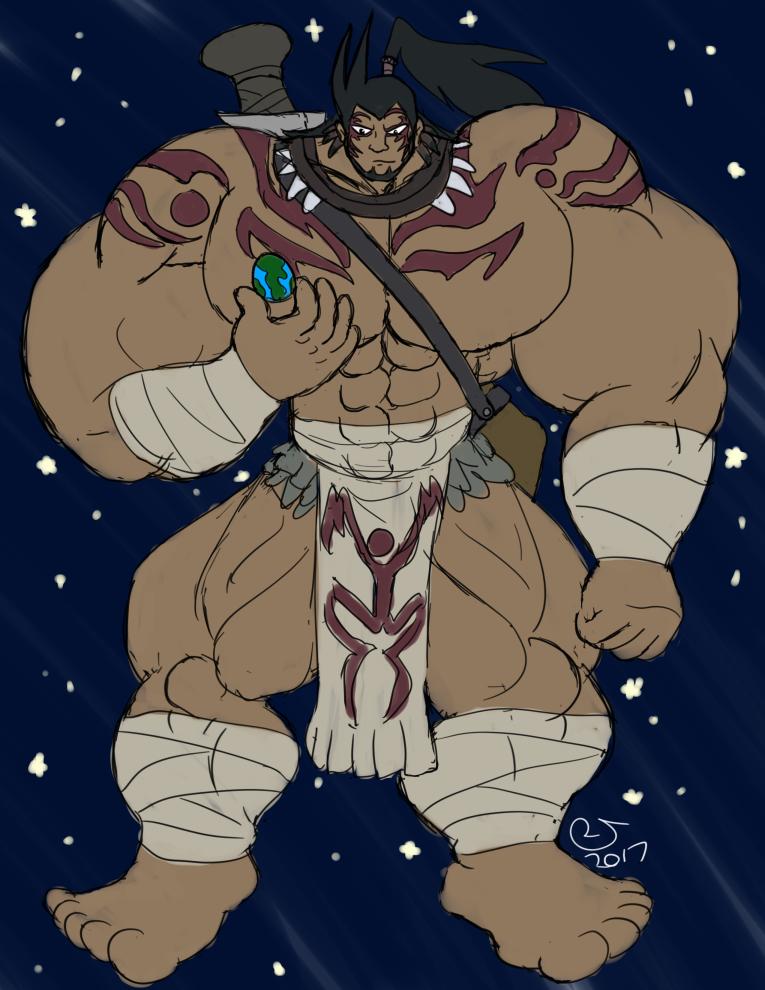 Commission: Big Elemental Hero Wildheart by CaseyLJones