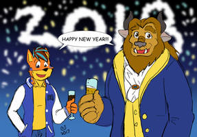 Sketchmission: Ben and Benny New Year by CaseyLJones