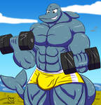 Commission: Muscle Beach Dolphin