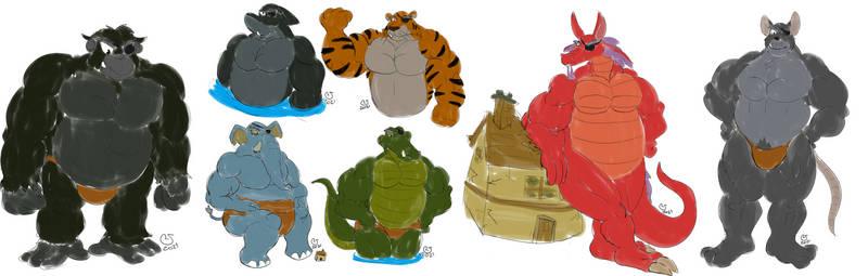 Patreon: Buff Ogre Animal Forms