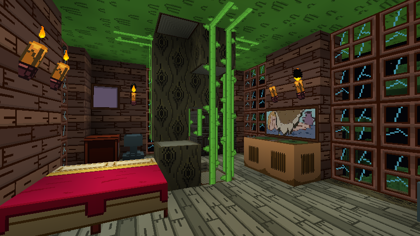 Treehouse Bedroom (Ft. Adventure Time) By TheGreenFlander ...