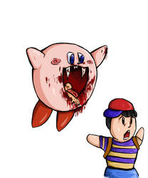 Kirby X Ness by Jope-san