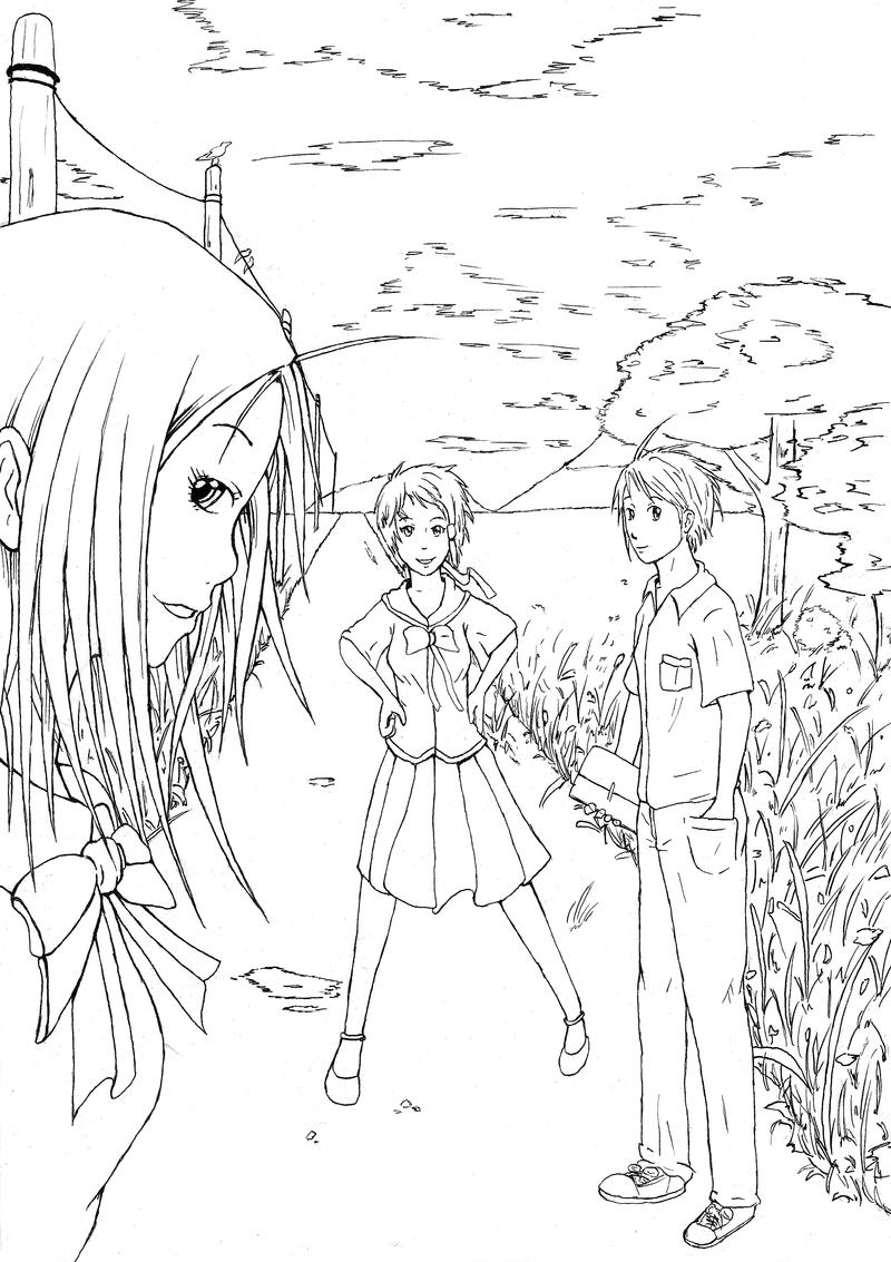 5000pv artwork Lineart by Jope-san
