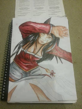 Ahri - Copic WIP 2