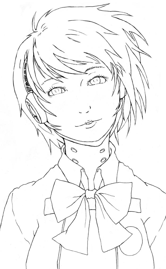 Persona 3 - Aegis 5 Lineart by Jope-san