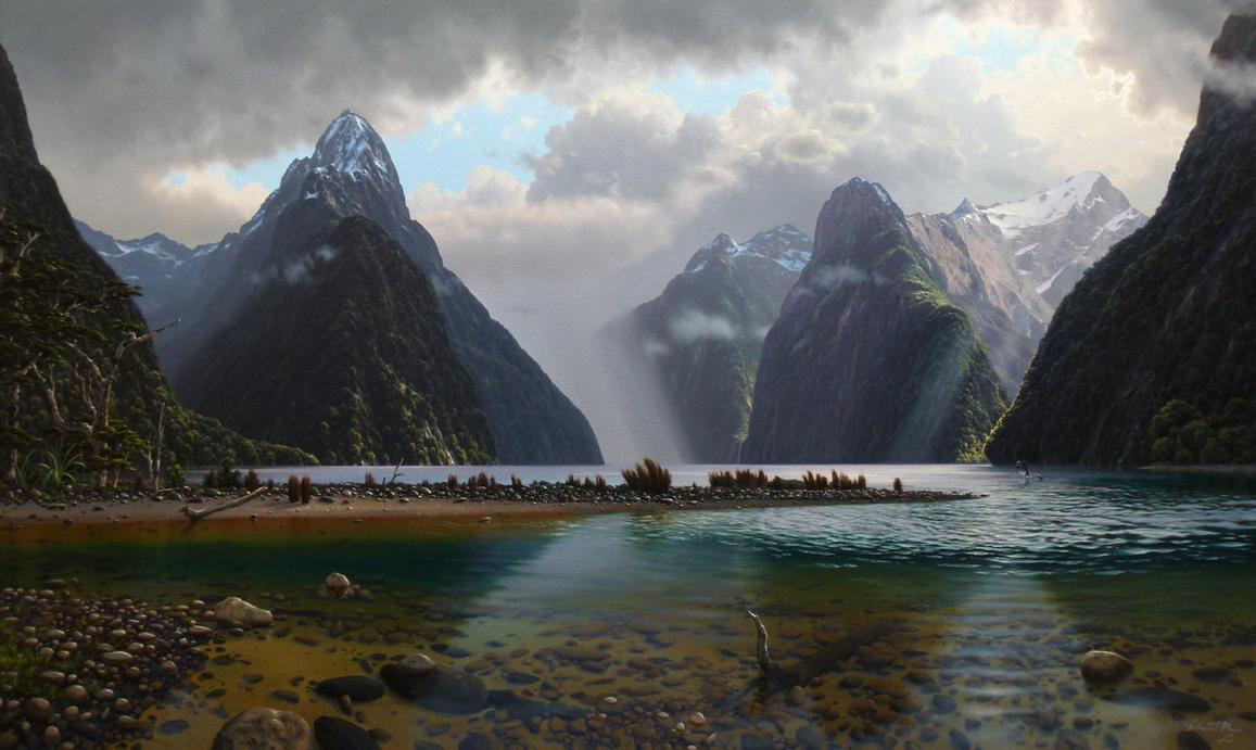 On Milford Sound, Fiordland N.Z. by nprovis