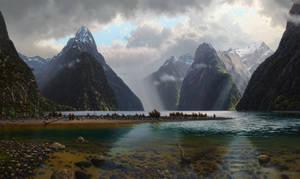 On Milford Sound, Fiordland N.Z.