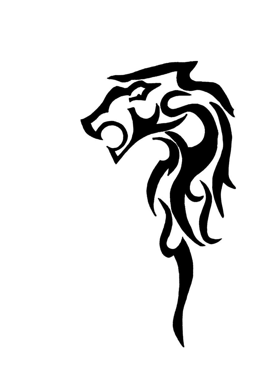 lion tribal tattoo by Bozhenka on DeviantArt