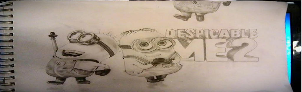 Despicable Me 2 Minions drawing by Derek Palmer. by derekpalmer29