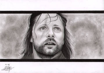 Aragorn - Staring at Mt. Doom by LittleRamona