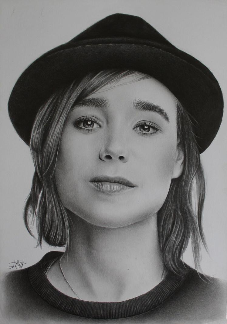 Ellen Page by LittleRamona