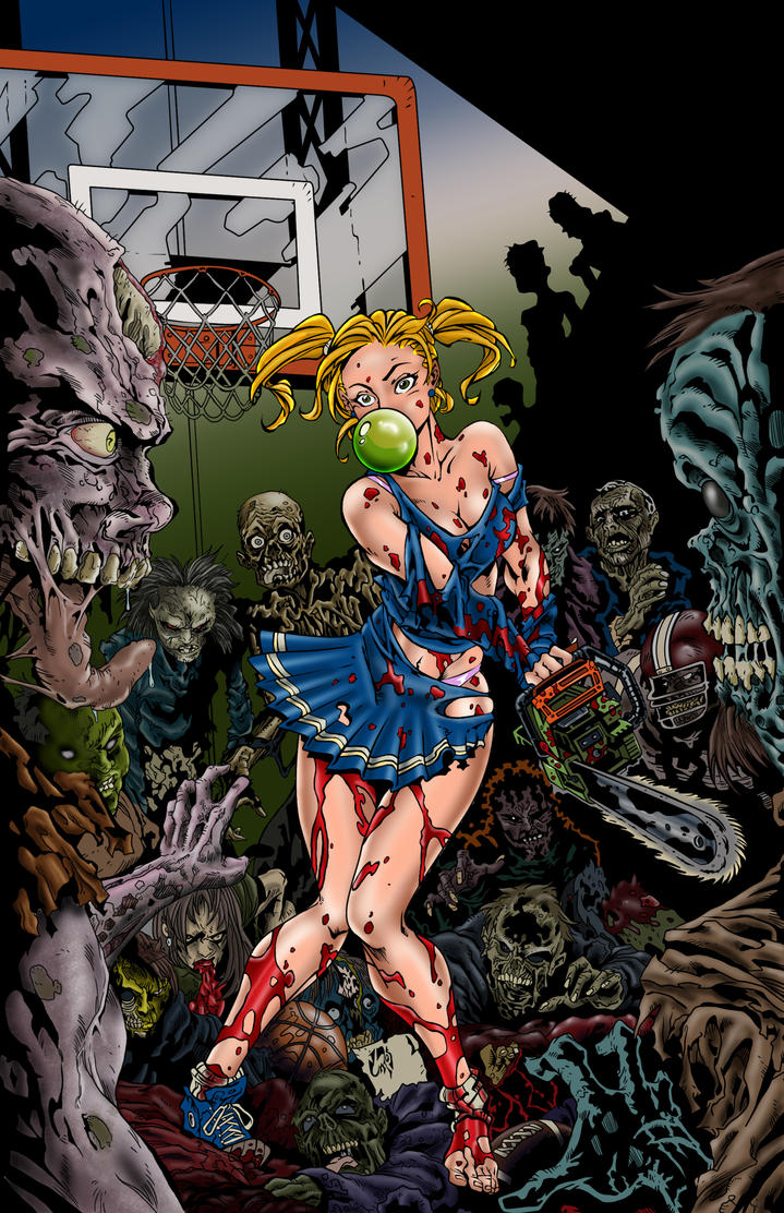 Zombies vs Cheerleaders Color by Pigz-n-Zen