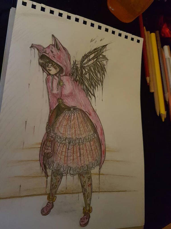 MY FIRST DRAWING ON DEVIANTART!! by TulleDraw