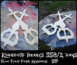 KH 385/2 Days - Xion Final Form Keyblades WIP by ToraKingz