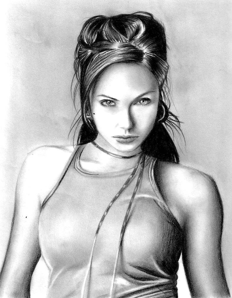 Angelina Jolie by nomdeplume23