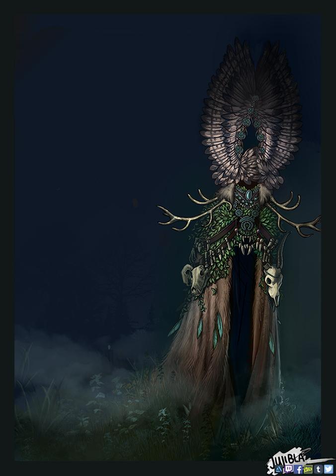 Odumaa - deity of nature by JujiBla