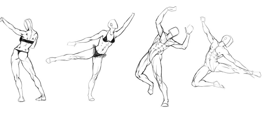 Random Anatomy Studies! by JujiBla