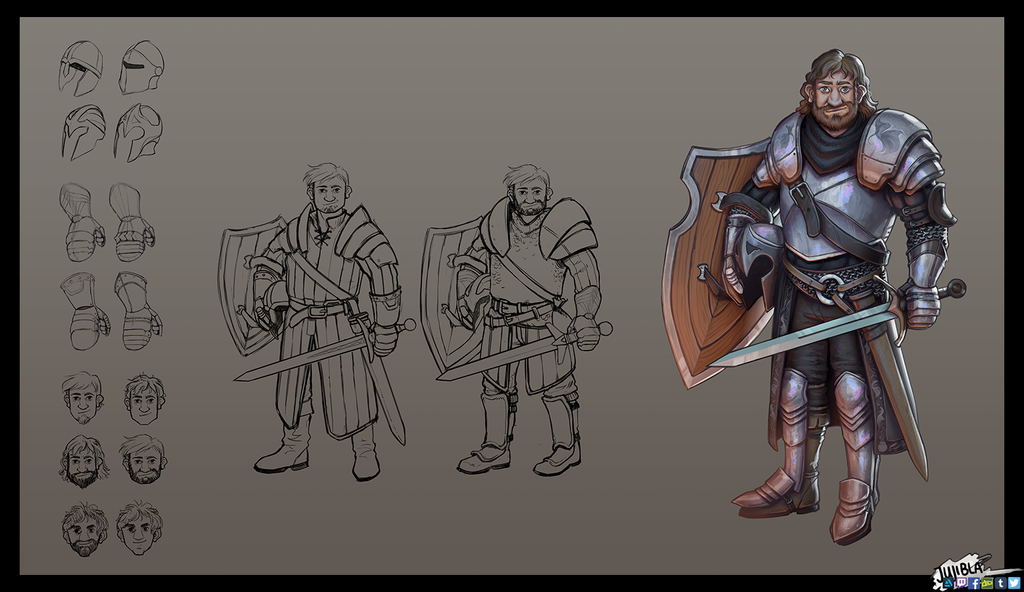Character Design - Sword Fighter by JujiBla