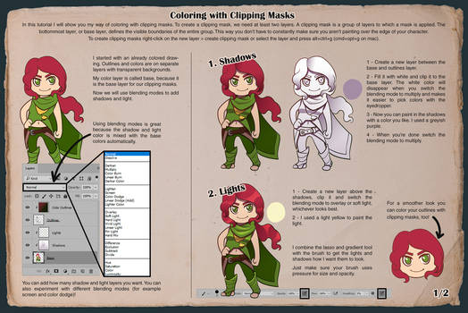 Tutorial - Coloring with Clipping Masks 1/2