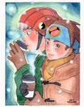 Netto and Enzan - Winter by Arumakan
