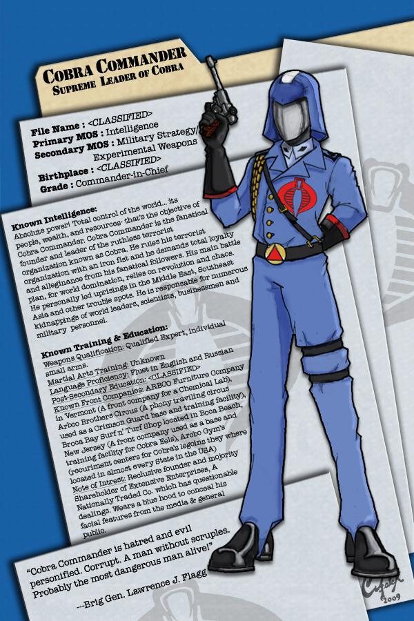 Cobra Commander Dossier by meleeinabox