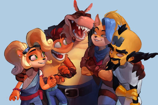I love them as a team in Crash 4
