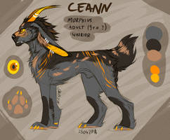 Ceann simple character sheet by ma-svart