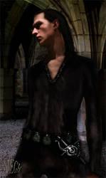Half-Elf Rogue by Astaviech