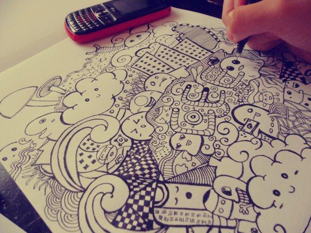 1st Doodle Art by ceesevenmarzartworks on DeviantArt