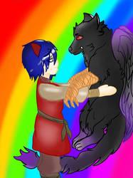 Child Bertilek and his beast by Moka-san18