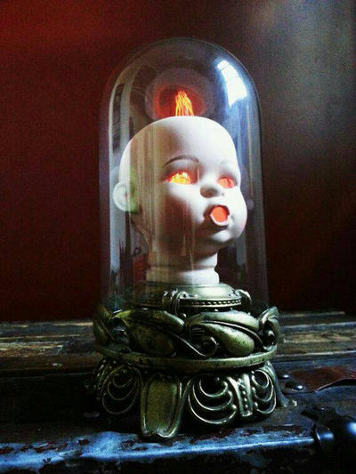 Creepy Doll Head Lamp By Madtinkerer ...