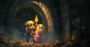 Lin kAnd Zelda Dungeon Light by coreyart7
