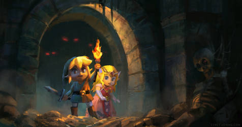 Lin kAnd Zelda Dungeon Light